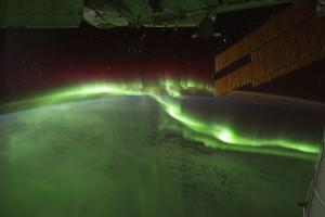 Νότιο σέλας (λήψη από διεθνή διαστημικό σταθμό)